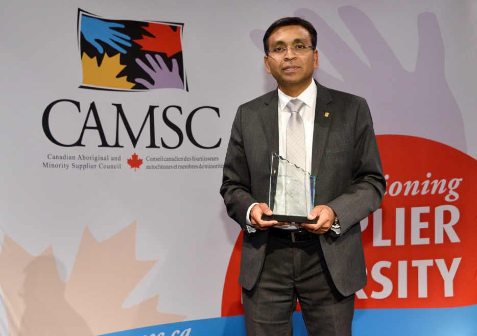 Kiruba Sankar Honoured with CAMSC's 2017 Procurement Business Advocate of the Year Award