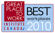 Great Place To Work. Institute Canada. Best Workplaces 2010