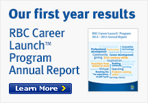 Our first year results RBC Career Launch<sup>&trade;</sup> Program Annual Report