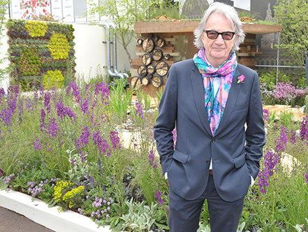 Paul Smith, designer, visits the garden on the opening day