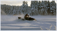Banking by Snowmobile