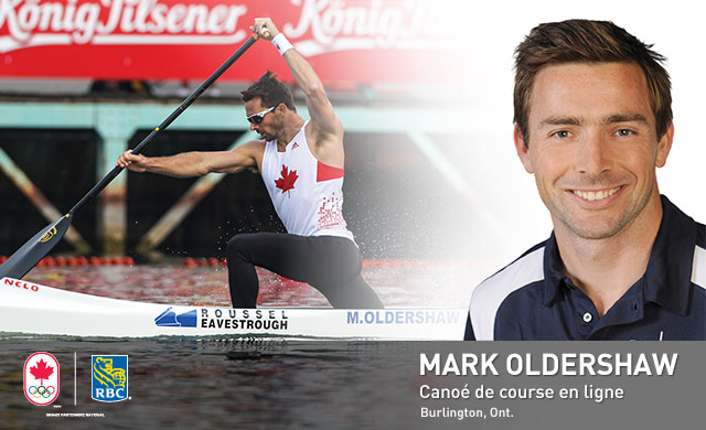 Mark Oldershaw : Canoé de course en ligne