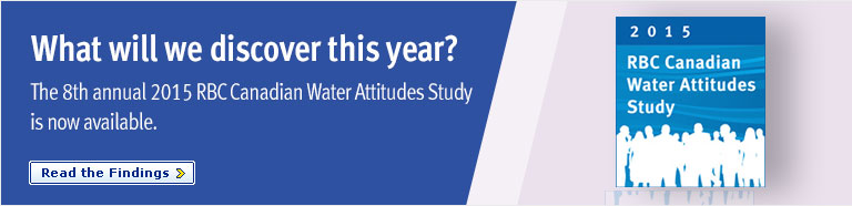 What will we discover this year?  The 8th annual 2015 RBC Canadian Water Attitudes Study is now available