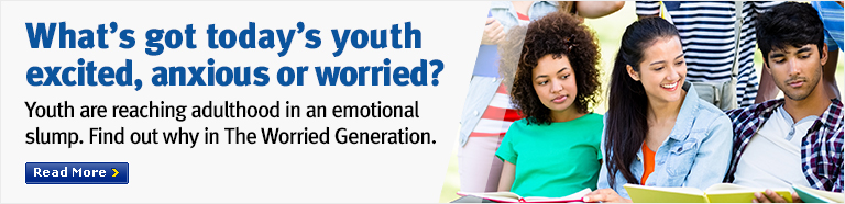 What's got today's youth excited, anxious or worried?