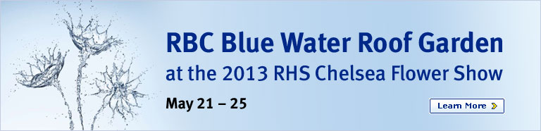 RBC Blue Water Roof Garden at the 2013 RHS Chelsea Flower Show. Learn More.