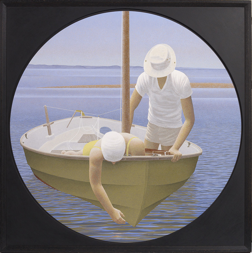 Photo caption: Alex Colville, Looking Down, 1988. Acrylic, polymer and emulsion on canvas, 71x71 cm/ 28x28 inches