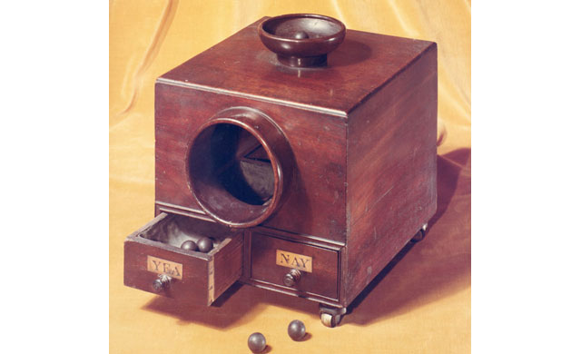 Late 1800s – Voting box