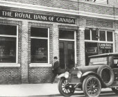 1925, Royal Bank of Canada branch Edmonton - Jasper Ave., Alberta