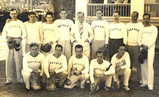 1942 – Softball Team, Nassau, Bahamas