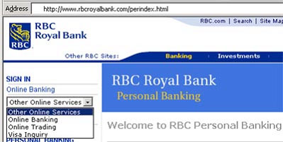 royal bank sign in online banking