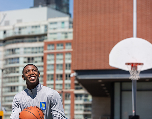 As a Team RBC athlete, RJ Barrett will build on RBC's long-standing commitment to young people and giving back to communities