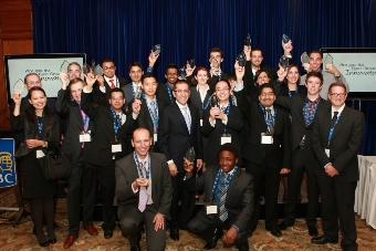 The finalists of the 5th annual Next Great Innovator Challenge celebrate their achievement.