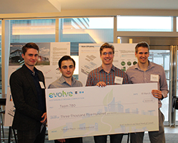 First Runner Up - $3,500 : Gandhi Habash, Daniel Chapotchkine, Peter Fisher, Alec Rancourt. University of Ottawa / Carleton University
