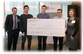 The third place team, Samuel Walther-Battista, Zheng Li and Alex Vanderlee were from Dalhousie University and received $1,500.