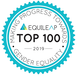 Equileap Top 100 2019. Making progress towards gender equality.
