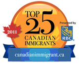 Top 25 Canadian Immigrants of 2011 logo
