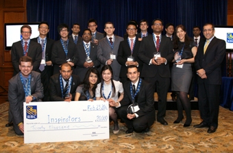 The finalists of the 6th annual RBC Next Great Innovator Challenge join Morteza Mahjour, Chief Information & Operations Officer, and Avi Pollock, Vice President, Innovation & Strategic Planning, after the awards ceremony.