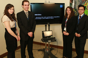 2009/10 finalist, Team Dragonfly (Richard Ivey School of Business), present their proposal