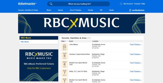 RBCxMusic Preferred Tickets Guide - RBCxMusic